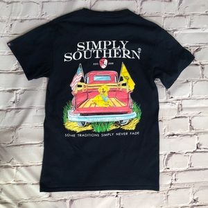 Simply Southern navy T-shirt size small